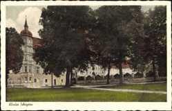 Postcard Scheyern Oberbayern, Blick vom Park auf das Kloster, Klosterbräustüberl