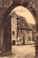 Postcard Ladenburg am Neckar, Blick in den Jesuitenhof, Tordurchblick