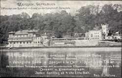 Ansichtskarte / Postkarte Meißen in Sachsen, Blick auf Restaurant Geipelburg, H. Hähne, Fluss
