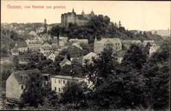 Ansichtskarte / Postkarte Nossen Landkreis Meißen, Blick auf den Ort vom Seminar aus gesehen