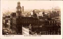 Postcard Melbourne Victoria Australien, The Post Office, Postamt, Umgebung