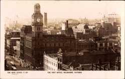 Ansichtskarte / Postkarte Melbourne Victoria Australien, The Post Office, Postamt, Umgebung
