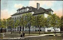 Postcard Sheboygan Wisconsin USA, High School, Hochschule, Tuck 2640
