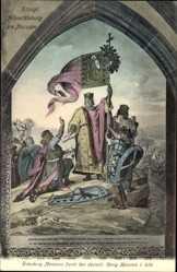 Künstler Ak Meißen in Sachsen, Gründung Meißens durch König Heinrich I, 930