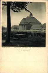 Postcard Dortmund im Ruhrgebiet, Freistuhl und Femlinde am Hauptbahnhof