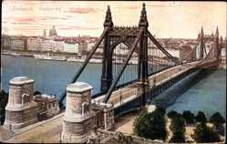 Künstler Ak Budapest Ungarn, Erzsebet hid, Elisabethbrücke