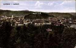Postcard Ljubljana Laibach Slowenien, Panorama der Stadt