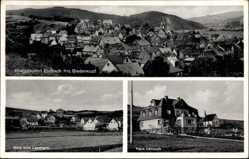 Postcard Bad Endbach in Hessen, Haus Dennoch, Blick zum Landheim, Total