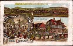 Litho Leimbach Thüringen, Gasthof zur weißen Rose, Inh. August Urban