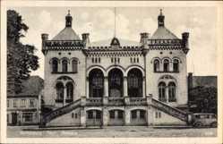 Postcard Wittenburg in Mecklenburg Vorpommern, Blick auf das Rathaus, Frontansicht