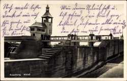 Postcard Augsburg in Schwaben, Ablass, Ansicht der Wasserschleuse
