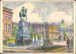 Künstler Ak Langkau, Berlin Mitte, Denkmal Friedrich des Großen und Universität