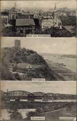 Ak Grudziądz Graudenz Westpreußen, Schlossberg, Weichselbrücke