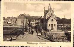 Postcard Zaandam Zaanstad Nordholland, Wilhelminabrug, Brücke, Fluss