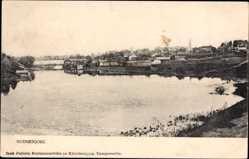 Postcard Suonenjoki Finnland, Blick in den Hafen, Panorama der Ortschaft