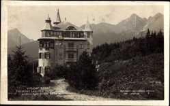 Postcard Slowakei, Vysoke Tatry, Hohe Tatra, Lomnica, Hotel Praha