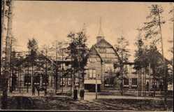 Postcard Kouvola Südfinnland, Yhteiskoulu, Gemischte Schule, Holzhaus