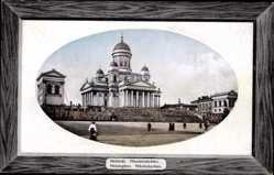 Präge Passepartout Ak Helsinki Helsingfors Südfinnland, Nikolaiinkirrko, Kirche
