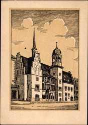 Künstler Ak Barthold, Oskar, Halle an der Saale, Altes Rathaus