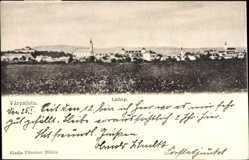 Postcard Várpalota Burgschloss Ungarn, Totalansicht der Ortschaft, Kirche, Feld