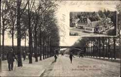 Postcard Frankfurt am Main, Forsthausstraße und Oberforsthaus, Brücke