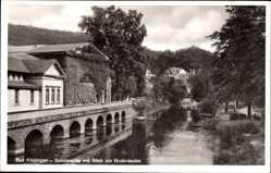 Postcard Bad Kissingen, Partie an der Saale, Bodenlaube, Bewuchs, Ufer