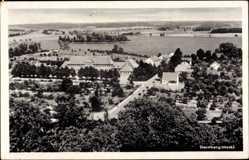 Postcard Sternberg in Mecklenburg Vorpommern, Panoramablick auf den Ort