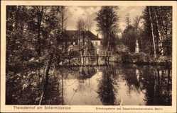 Postcard Theresienhof Bad Saarow Pieskow Kreis Oder Spree, Erholungsheim