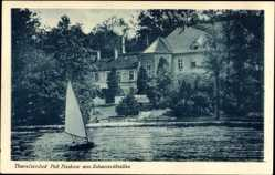 Postcard Theresienhof Bad Saarow Pieskow Kreis Oder Spree, Haus, Segelboot
