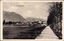 Postcard Immenstadt im Allgäu Schwaben, Blick auf den Ort und die Alpen