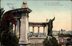 Postcard Budapest Ungarn, Szt. Gellert Szobor, St. Gerhardus Denkmal