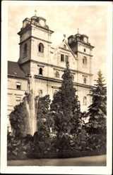 Postcard Košice Kassa Kaschau Slowakei, Stefanikova ulica, Kirche, Wasserfontäne