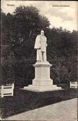 Postcard Wesel am Niederrhein, Kaiser Wilhelm I. Denkmal