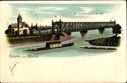 Litho Kehl am Rhein Ortenaukreis Baden Württemberg, Die neue Rheinbrücke