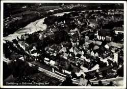 Postcard Landsberg am Lech in Oberbayern, Fliegeraufnahme von der Stadt