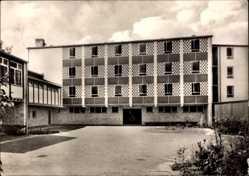 Postcard Marburg an der Lahn, Blick auf die Jugendherberge, Vorderansicht