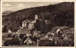 Postcard Bad Liebenstein im Wartburgkreis, Stadt vom Aschberg aus gesehen