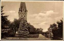 Postcard Tangermünde in Sachsen Anhalt, Denkmalsplatz mit Kapitalturm