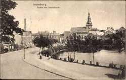 Ak Tschernjachowsk Insterburg Ostpreußen, Partie am Schlossteich