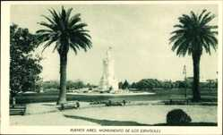 Postcard Buenos Aires Argentinien, Monumento de Los Espanoles, Denkmal