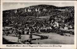 Postcard Muggendorf Wiesenttal im Kreis Forchheim Oberfranken, Panorama vom Römerberg