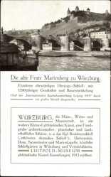 Postcard Würzburg am Main Unterfranken, Alte Feste Marienberg, Brücke, Fluss