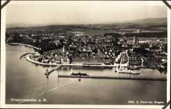 Postcard Friedrichshafen am Bodensee, Blick auf den Ort, Fliegeraufnahme