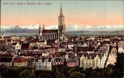 Postcard Ulm an der Donau Baden Württemberg, Blick auf den Ort und den Münster
