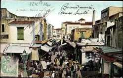 Postcard La Canee Kreta Griechenland, Marche aux fruits, Geschäfte