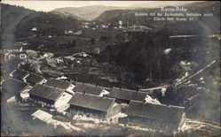 Foto Ak Ravna Reka Serbien, Kolonie mit der Zechenbahn, Eisenb. Betr. Komp. 67
