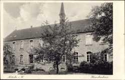 Postcard Nottuln in Westfalen, Straßenpartie mit Blick auf das Krankenhaus