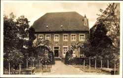 Postcard Nottuln in Westfalen, Blick auf das Haus Rhode, Gartenpartie, Eingang