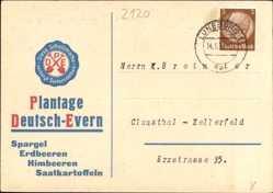 Postcard Deutsch Evern in Niedersachsen, G. Soltwedel Plantage