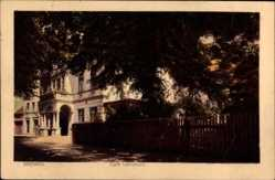 Postcard Hansestadt Bremen, Café Lehmkuhl, Straßenpartie, Waller Heerstraße 167